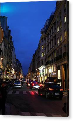 Street Scenes - Paris France - 011344 Canvas Print