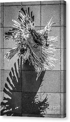 Street Shadow Dancer - Black And White Canvas Print by Ian Monk