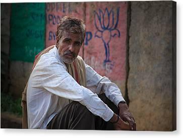 Street Vendor - India Canvas Print by Matthew Onheiber
