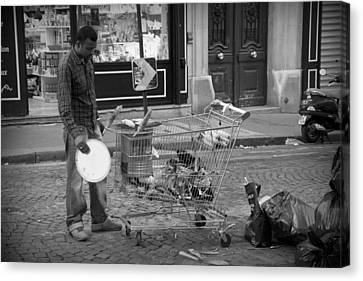Street Vendor Canvas Print