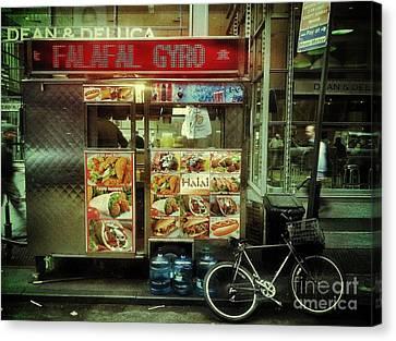 Street Vendor New York City Canvas Print by Amy Cicconi