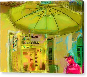 Street Vendor Puerto Rico Canvas Print