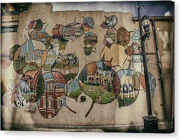 Street Wall In Fort Collins Canvas Print by Lijie Zhou