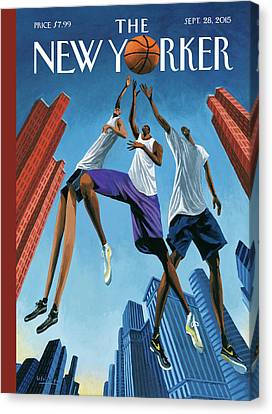 Sneakers Canvas Print - Streetball by Mark Ulriksen