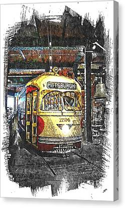 Pittsburgh Streetcar 1724 Canvas Print by Spencer McKain