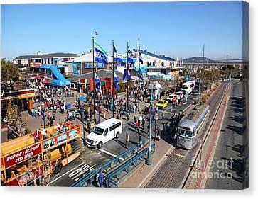 Streetcars At Pier 39 San Francisco California 5d26050 Canvas Print