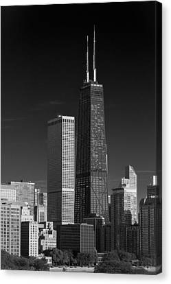 Streeterville Chicago Illinois B W Canvas Print by Steve Gadomski