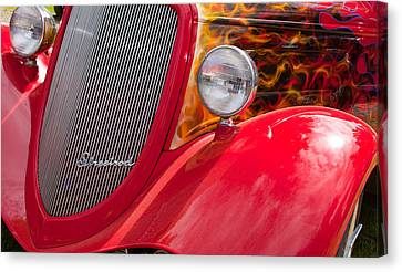 Streetrod Red Canvas Print by Mick Flynn