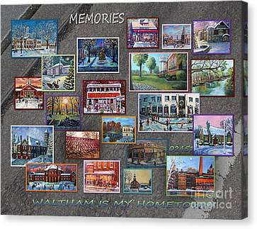 Streets Full Of Memories Canvas Print