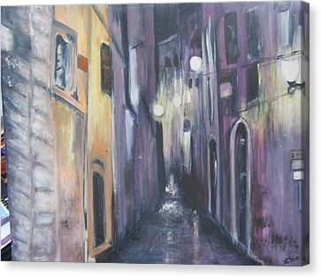 Streets Of Alatri Italy Canvas Print