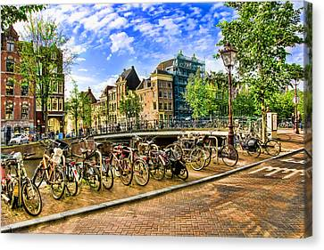 Canvas Print featuring the photograph Streets Of Amsterdam by Brent Durken