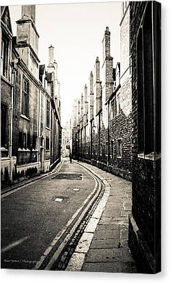 Streets Of Cambridge - For Eugene Atget Canvas Print by Ross Henton