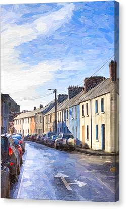 Streets Of Galway On A Winter Morn Canvas Print by Mark E Tisdale
