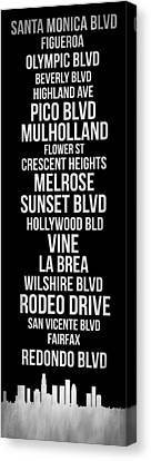 Streets Of Los Angeles 2 Canvas Print