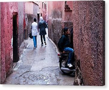 Streets Of Marrakesh Canvas Print by Daniel Kocian