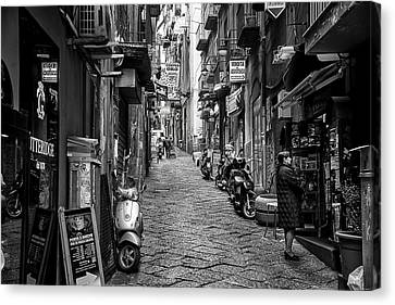 Streets Of Naples Canvas Print