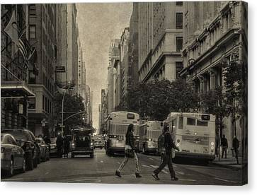 Streets Of New York City Canvas Print