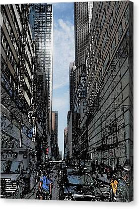 Streets Of New York City Canvas Print by Mario Perez