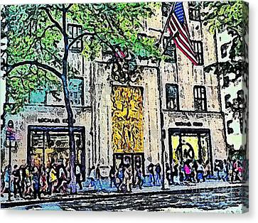 Streets Of Nyc 7 Canvas Print by Mario Perez