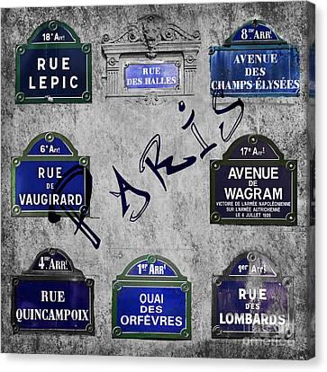 Streets Of Paris Canvas Print by Delphimages Photo Creations