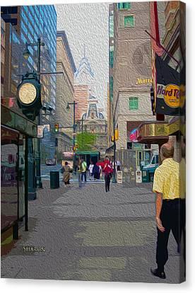Streets Of Philadelphia Canvas Print by Garland Johnson