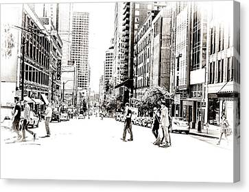 Streets Of Seattle Canvas Print by Susan Stone