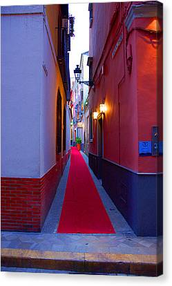 Streets Of Seville - Red Carpet  Canvas Print