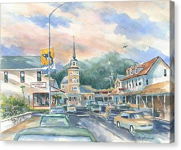 Streets Of Sitka Canvas Print by Kerry Kupferschmidt