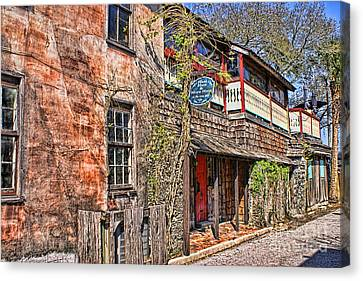 Canvas Print featuring the photograph Streets Of St Augustine Florida by Olga Hamilton