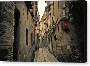 Streets Of Toledo Canvas Print