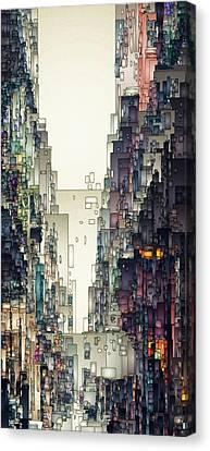 Streetscape 1 Canvas Print by David Hansen