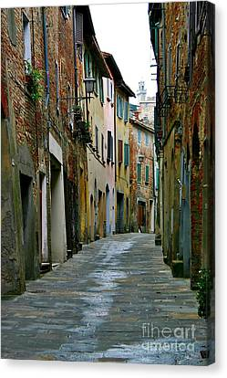 Streetscape Tuscany Canvas Print