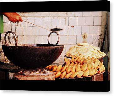 Canvas Print featuring the photograph Streetside Delicacy by Rima Biswas