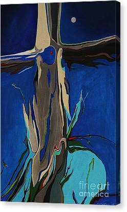 Canvas Print featuring the painting Strength by Alison Caltrider