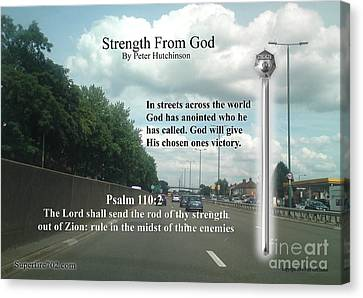 Strength From God Canvas Print