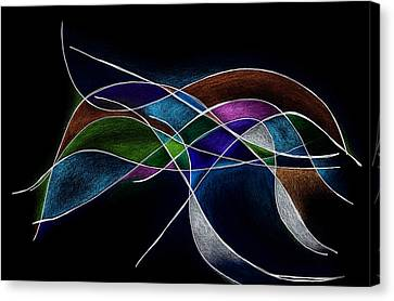 Strength In Black Canvas Print by Alla Ilencikova