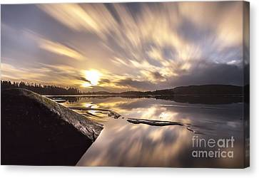 Canvas Print featuring the photograph Strength In The Storm by Rose-Maries Pictures