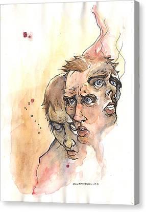 Stress Anxiety Depression Canvas Print by John Ashton Golden