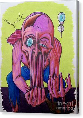 Canvas Print featuring the drawing Stretching The Truth by Michael  TMAD Finney