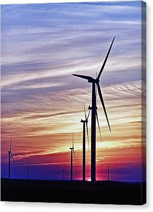 Farm Stand Canvas Print - Striated Sky by Jim Finch