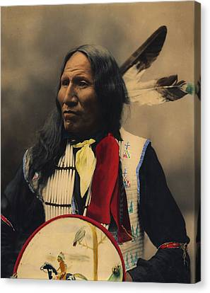 Strikes With Nose Oglala Sioux Chief  Canvas Print