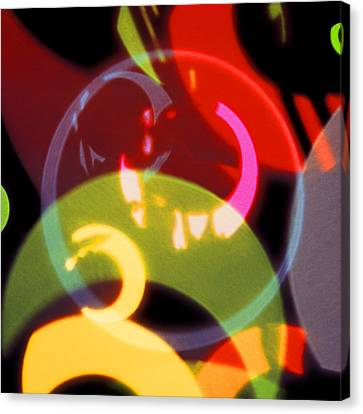 String Of Lights 2 Canvas Print by Mike McGlothlen