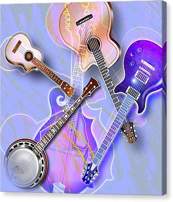 Stringed Instruments Canvas Print by Design Pics Eye Traveller