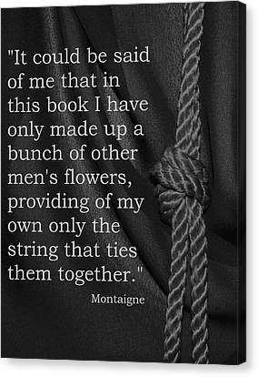 Stringing The Book Canvas Print by Barbara St Jean