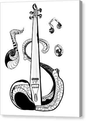 Electronic Canvas Print - Strings by Kenal Louis