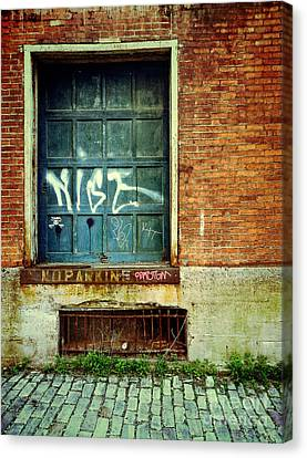 Strip District Doorway Number 1 Canvas Print by Amy Cicconi