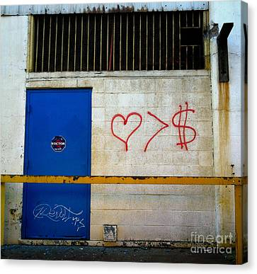 Strip District Doorway Number Fout Canvas Print by Amy Cicconi