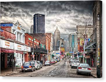 Allegeny River Canvas Print - Strip District Pittsburgh by Emmanuel Panagiotakis