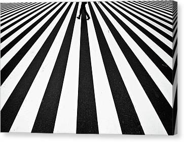 Crosswalks Canvas Print - Stripe by Kouji Tomihisa