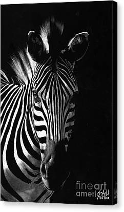 Striped Beauty Canvas Print